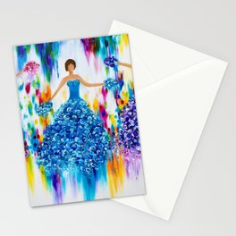 Colourful dance Stationery Cards