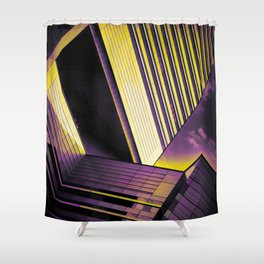 Purple & Gold Escape Shower Curtain