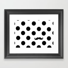 Dots mustache Framed Art Print