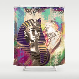King Tut  Mask Abstract composition Shower Curtain