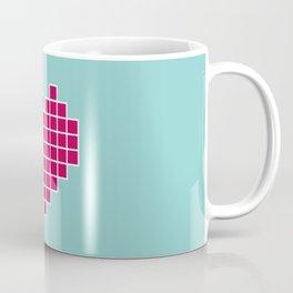 Pixelated Heart Coffee Mug