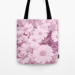 Elegant blush pink white daises botanical floral Tote Bag