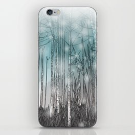 Snowy Forest Scene iPhone Skin