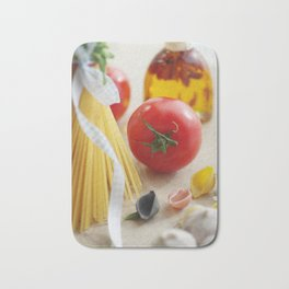 Fresh Tomato with Pasta  in the kitchen Bath Mat