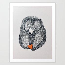 Be my bear Art Print