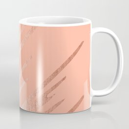 Sweet Life Swipes Peach Coral Shimmer Coffee Mug