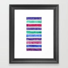 Peacock Stripes Framed Art Print