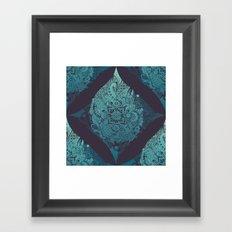 Detailed diamond Framed Art Print