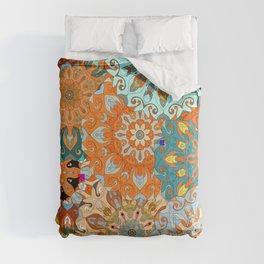 Boho Mandela Pattern 1 Comforters