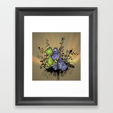 The friend, cute dragons Framed Art Print