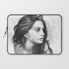 Anne Hathaway minimalist illustration Laptop Sleeve