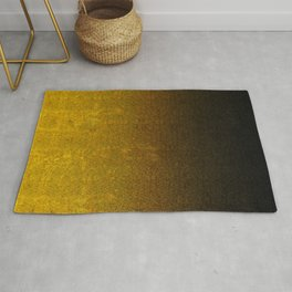 Yellow & Black Glitter Gradient Rug