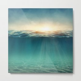 Breeze of the blue ocean Metal Print