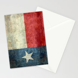 Texas flag, Retro distressed texture Stationery Cards