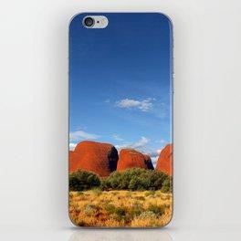 A landscape shot of Kata Tjuṯa / Mount Olga at Uluru in the outback of Australia iPhone Skin