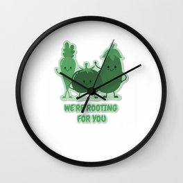 We're Rooting For You Wall Clock