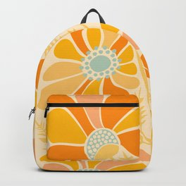 Sunny Flowers / Floral Illustration Backpack