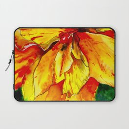 Yellow Summer Hibiscus Blossom Laptop Sleeve