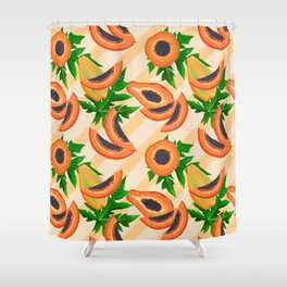 Papaya Party Shower Curtain