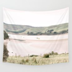Boats on the water (color) Wall Tapestry