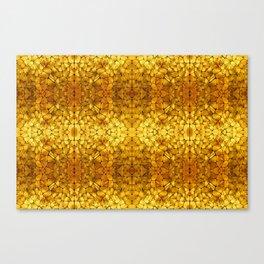 Gold Tortoise Shell Pattern Canvas Print