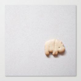 Animal Cracker- white Canvas Print