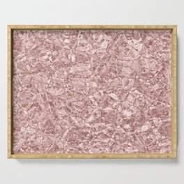 Rose Gold Glittering Foil Texture Serving Tray