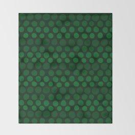 Emerald Green Subtle Gradient Dots Throw Blanket