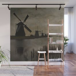 Windmills at Kinderdijk Holland Wall Mural