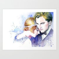 great gatsby Art Prints featuring Great Gatsby by Johnny Rockets