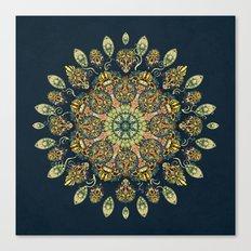 Gardenia Window Mandala  Canvas Print