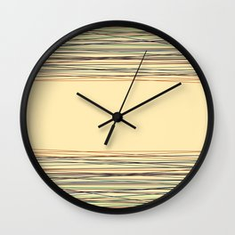 Abstract pattern , fine lines 9 Wall Clock