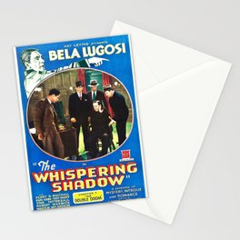 Classic Movie Poster - The Whispering Shadow Stationery Cards