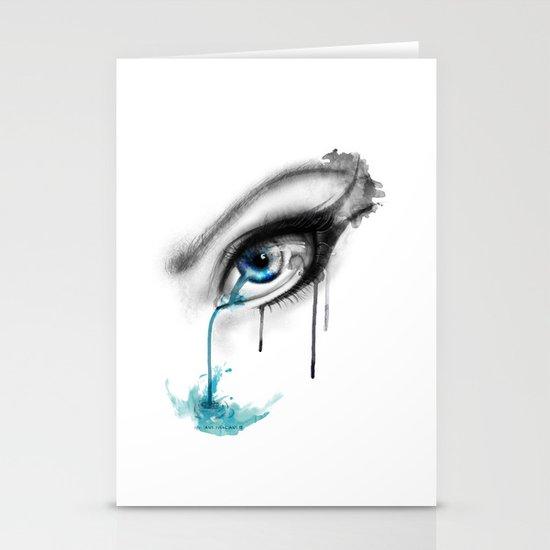 Blue tear river. Stationery Cards