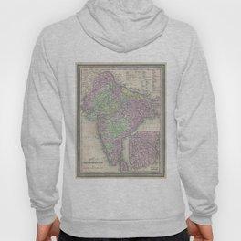 Vintage Map of India (1853) Hoody