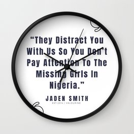 12   |  Jaden Smith Quotes | 190904 Wall Clock