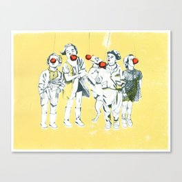 Apple eaters Canvas Print