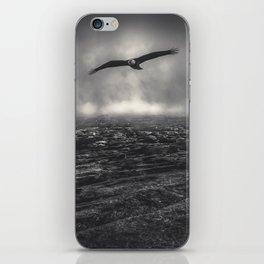 Hunting The Fog Line Bald Eagle iPhone Skin