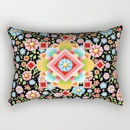 Geometric Chintz Mandala Rectangular Pillow