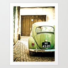 Mrs Olive Green Art Print