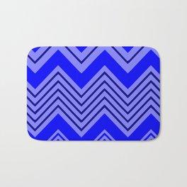 Chevron No. 1 -- Blue Bath Mat