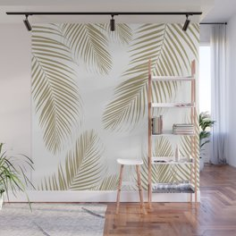 Palm Leaves - Gold Cali Vibes #3 #tropical #decor #art #society6 Wall Mural