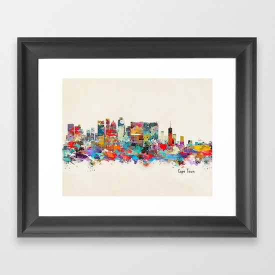 Cape Town South Africa Framed Art Print by Bri.buckley ...