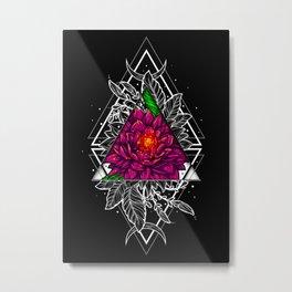 Half colored flowers 05 Metal Print
