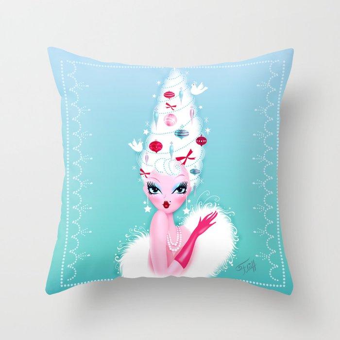 Christmas Coiffure Throw Pillow