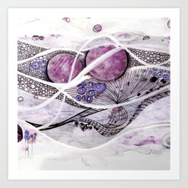Space Planet Star Abstract #2 Art Print