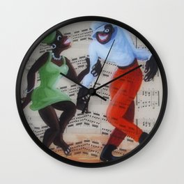African American 'Apollo Theater Sheet Music Portrait No. 9' Harlem Friday by Miguel Covarrubias Wall Clock