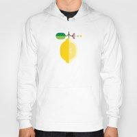 fruit Hoodies featuring Fruit: Lemon by Christopher Dina