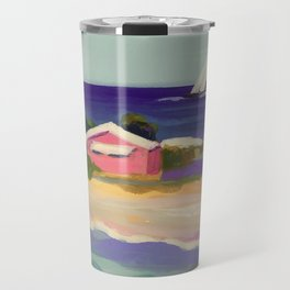 PINK COTTAGE BEACH Travel Mug