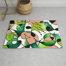 Beige Abstract Critters Rug